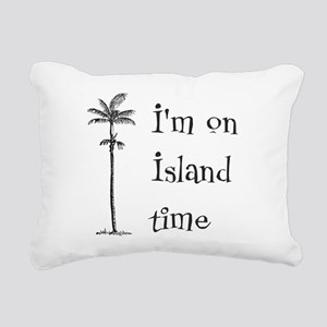 Island Time Rectangular Canvas Pillow