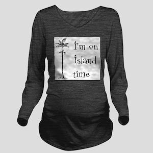 Island Time Long Sleeve Maternity T-Shirt
