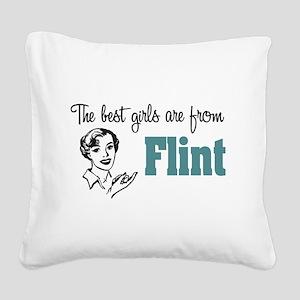 Best Girls Flint Square Canvas Pillow
