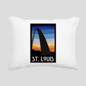 St. Louis Arch Rectangular Canvas Pillow
