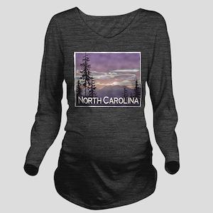 North Carolina Mountains Long Sleeve Maternity T-S