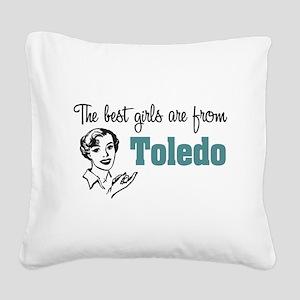 Best Girls Toledo Square Canvas Pillow
