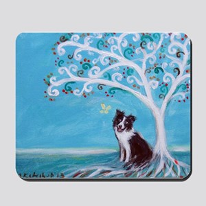 Border Collie Tree of Life Mousepad