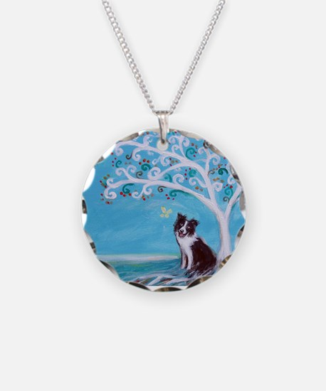 Border Collie Tree of Life Necklace