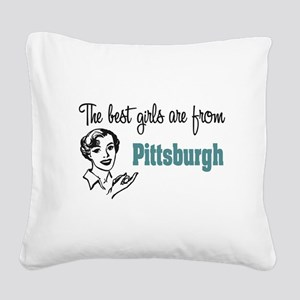 Best Girls Pittsburgh Square Canvas Pillow