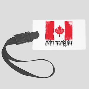 Mont-Tremblant Grunge Flag Large Luggage Tag
