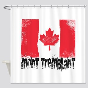 Mont-Tremblant Grunge Flag Shower Curtain