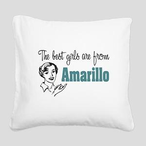 Best Girls Amarillo Square Canvas Pillow