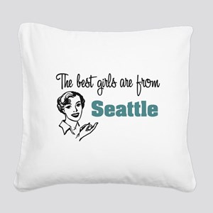 Best Girls Seattle Square Canvas Pillow