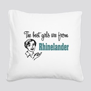 Best Girls Rhinelander Square Canvas Pillow