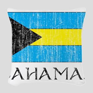 Bahamas Flag Woven Throw Pillow