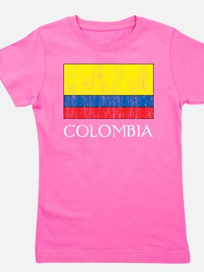 Colombia Flag Girl's Tee