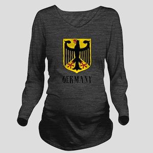 German Coat of Arms Long Sleeve Maternity T-Shirt