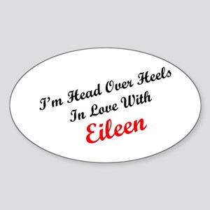 In Love with Eileen Oval Sticker