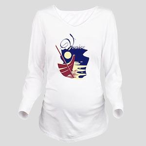 Venice Boat Long Sleeve Maternity T-Shirt