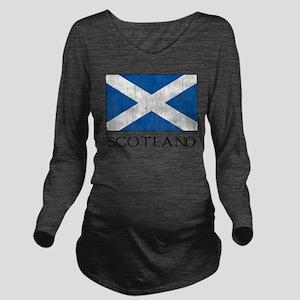 Scotland Flag Long Sleeve Maternity T-Shirt