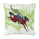American Cowboy Woven Throw Pillow