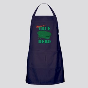 Married to a Green Beret Hero Apron (dark)