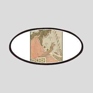 Art Nouveau Harpist Patches