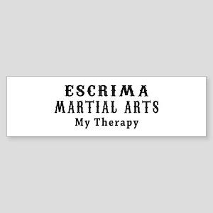 Escrima Martial Art My Therapy Sticker (Bumper)