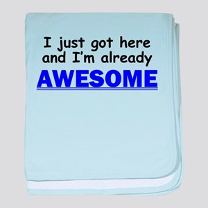 Im Already Awesome baby blanket