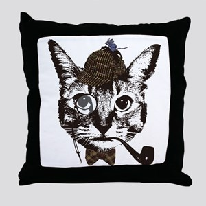 Shercat Holmes Throw Pillow