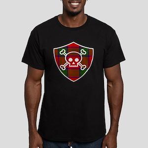 Robertson Tartan Skull And Bones Shield T-Shirt