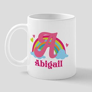 Personalized A Monogram Mugs