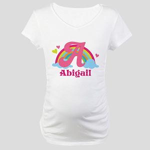 Personalized A Monogram Maternity T-Shirt