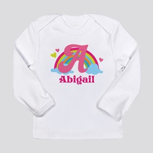 Personalized A Monogram Long Sleeve T-Shirt