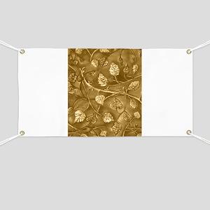 Tan Undulating Leaves Fall Banner
