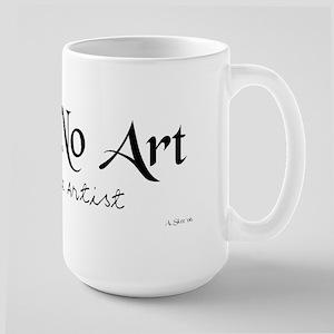 Fear no art mug