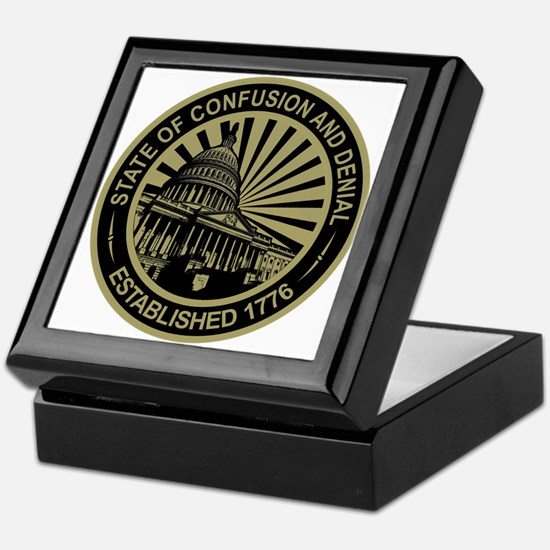 State of Confusion Seal Keepsake Box