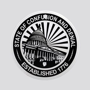 State of Confusion Seal Ornament (Round)
