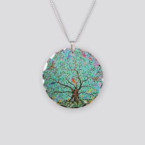 Tree of Life Necklace Circle Charm