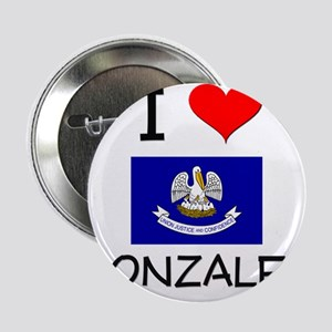 "I Love GONZALES Louisiana 2.25"" Button"