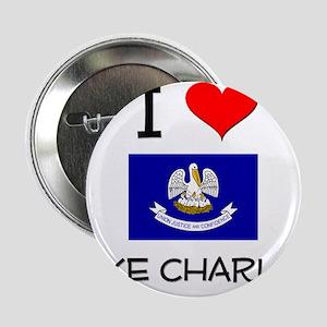 "I Love LAKE CHARLES Louisiana 2.25"" Button"