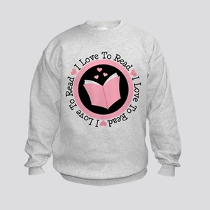 I Love To Read Book Sweatshirt