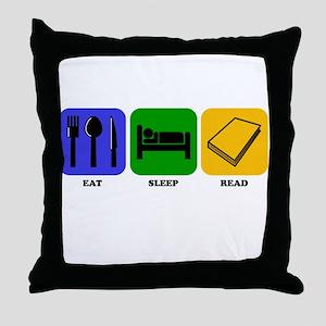 Eat Sleep Read Throw Pillow