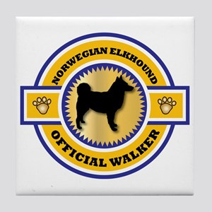 Elkhound Walker Tile Coaster