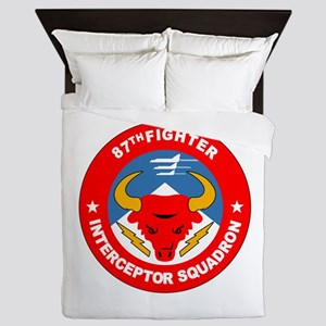 87th_interceptor_squadron Queen Duvet