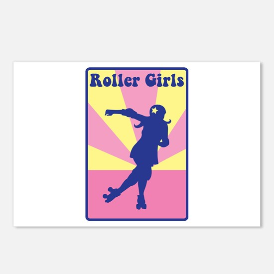 Roller Girls Postcards (Package of 8)