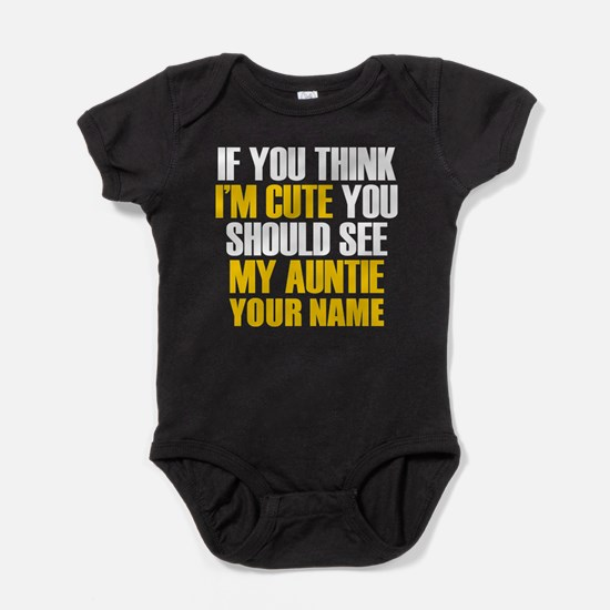 Custom My Cute Auntie Baby Bodysuit
