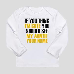 Custom My Cute Auntie Long Sleeve T-Shirt