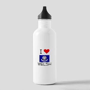 I Love WELSH Louisiana Water Bottle