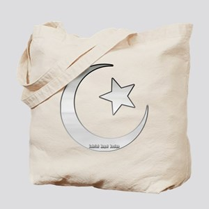 Silver Star and Crescent Tote Bag
