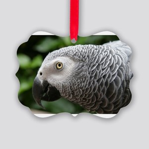 African Grey Parrot Picture Ornament