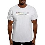 Heterosexually Challenged Ash Grey T-Shirt