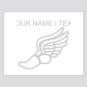 Custom Silver Winged Running Shoe Poster Design