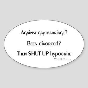 Divorced Dimwits Oval Sticker